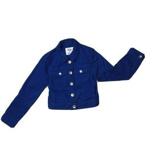 Justice Youth Girl Jean Jacket Button Front Sz 6/7